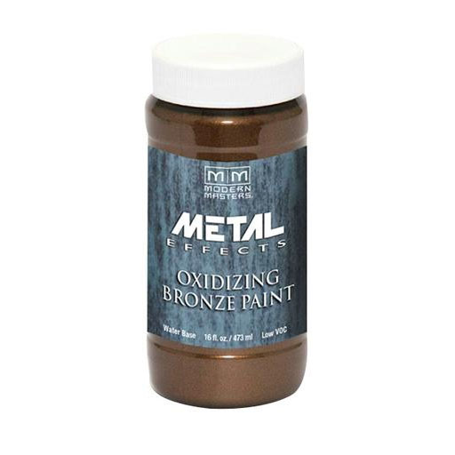 Picture of MODERN MASTERS Metal Effects ME39616 Metallic Paint, Patina Metallic, Bronze, 1 pt, Container