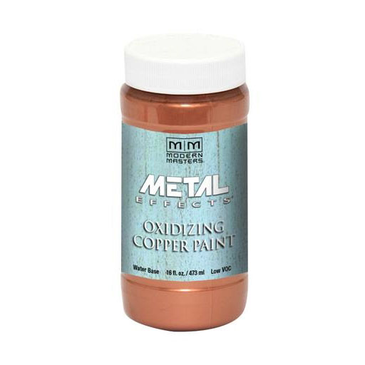 Picture of MODERN MASTERS Metal Effects ME14916 Metallic Paint, Patina Metallic, Copper, 1 pt, Container