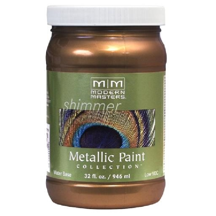Picture of MODERN MASTERS ME19032 Metallic Paint, Metallic, Statuary Bronze, 1 qt, Container