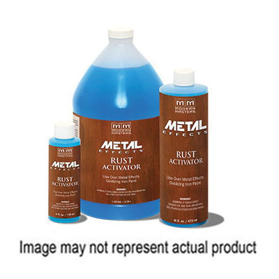 Picture of MODERN MASTERS Metal Effects PA904-16 Rust Activator, Metallic, Translucent Blue, 16 oz