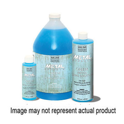 Picture of MODERN MASTERS Metal Effects PA901-16 Aging Solution, Green Patina, Translucent Blue, 16 oz
