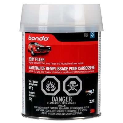 Picture of Bondo 261C Body Filler, 1 pt Package, Can, Paste, Pungent Organic
