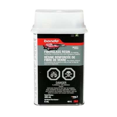 Picture of Bondo 401C Fiberglass Resin, 15 oz Package, Can, Liquid, Pungent Organic