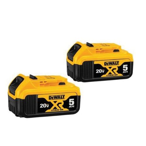 Picture of DeWALT DCB205-2 Battery Pack, 20 V Battery, 5 Ah