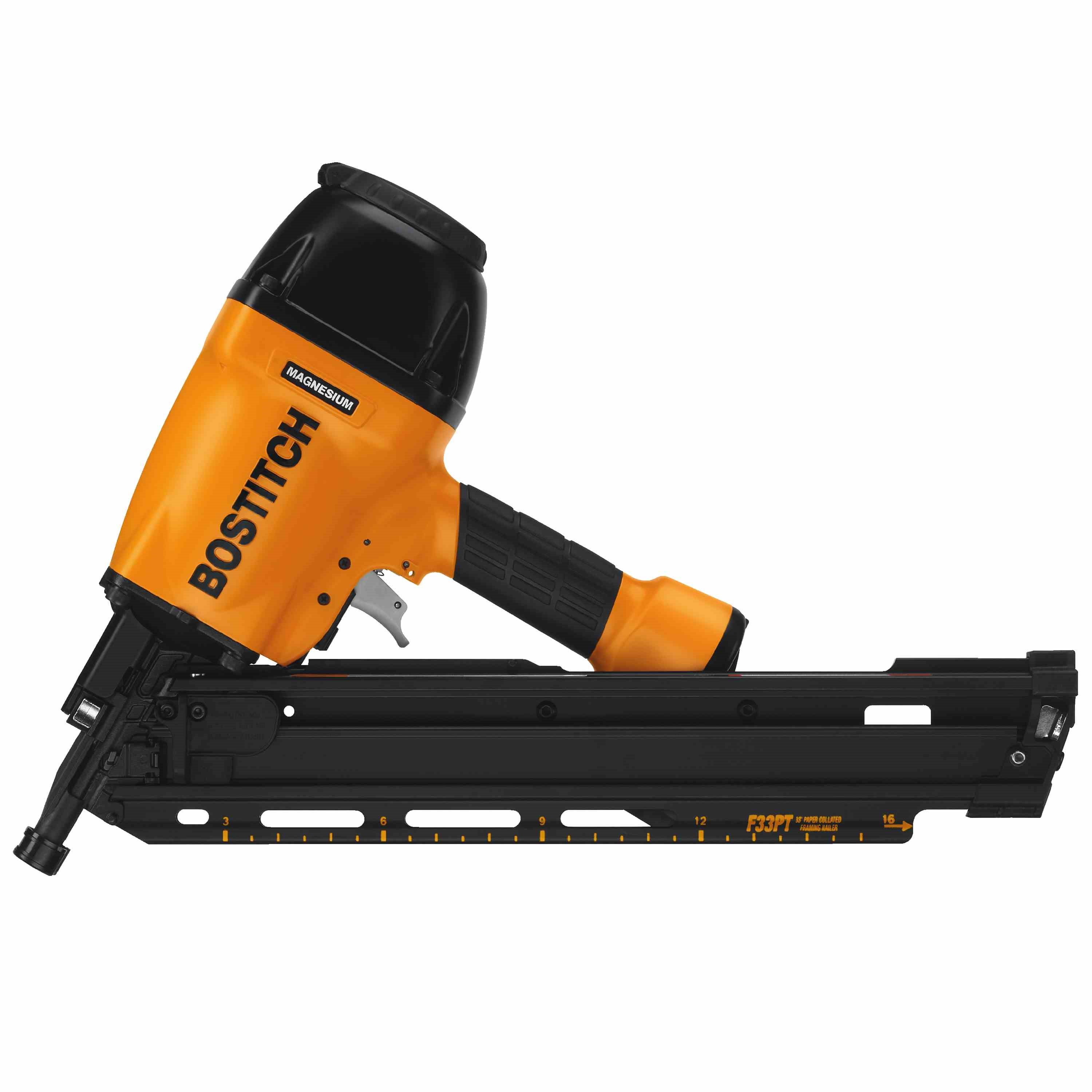 Picture of Bostitch F33PT Framing Nailer, 80 Magazine, 30 deg Collation, Paper Collation, 2 to 3-1/2 in Fastener