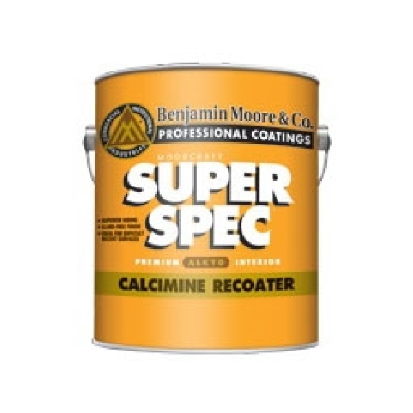 Picture of Benjamin Moore 030601-001 Alkyd Calcimine Re-Coater, Flat, White, 1 gal Package