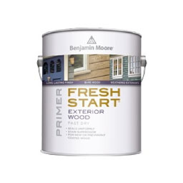 Picture of Benjamin Moore FRESH START 009400-001 Exterior Primer, Low-Luster, White, 1 gal, Container