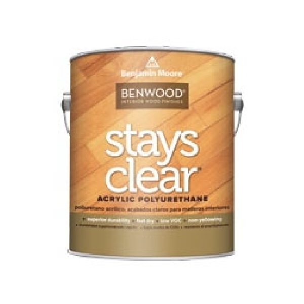 Picture of Benjamin Moore Benwood N42300-001 Acrylic Polyurethane, Low-Luster, Clear, 1 gal