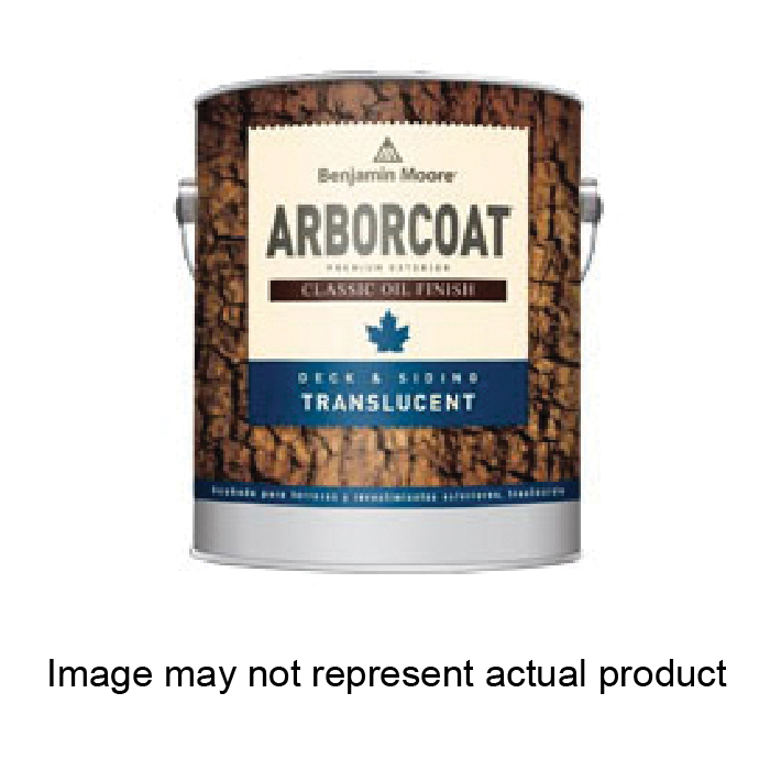 Picture of Benjamin Moore ARBORCOAT 032610-001 Exterior Stain, Alkyd Translucent Flat, Natural Light Brown, Liquid, 1 gal, Can