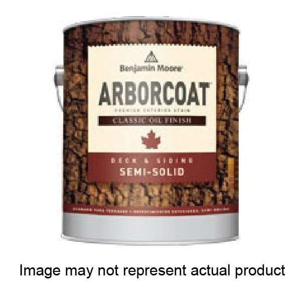 Picture of Benjamin Moore ARBORCOAT C32906-004 Exterior Semi-Solid Stain, Flat, Clear, Liquid, 1 qt