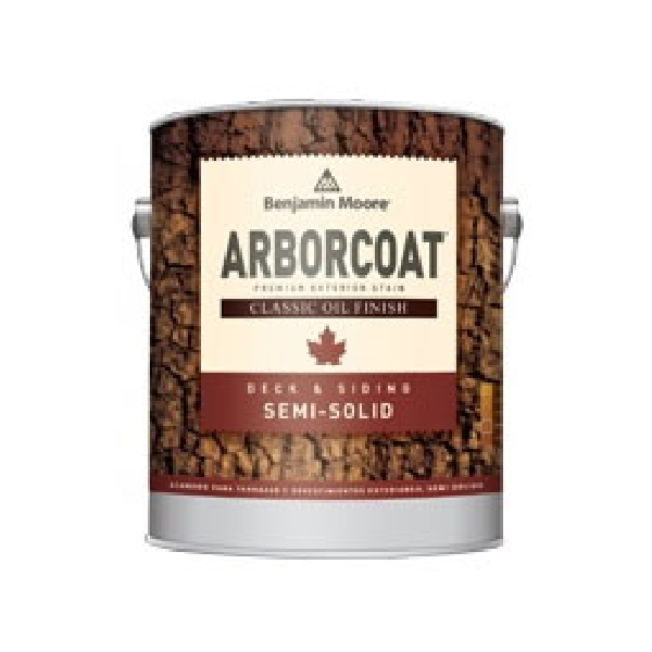 Picture of Benjamin Moore ARBORCOAT C32906-001 Exterior Semi-Solid Stain, Flat, Clear, Liquid, 1 gal