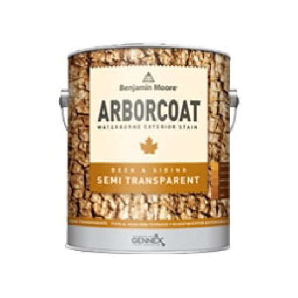 Picture of Benjamin Moore ARBORCOAT N63812-008 Exterior Stain, Flat, Yellow, Liquid, 1 pt