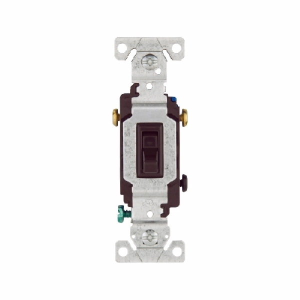 Picture of Eaton Wiring Devices 1303-7B Toggle Switch, 15 A, 120 V, Polycarbonate Housing Material, Brown