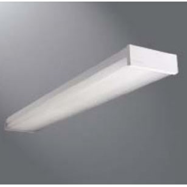 Picture of Metalux WE Series WE232RB Residential Wrap Fixture, 120 V, 2-Lamp, T8 Bulb, Bi-Pin Lamp Base, Steel Fixture
