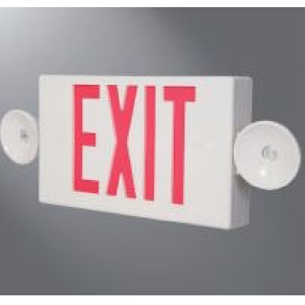 Picture of Sure-Lites LPXC Series LPXC25 Emergency Light Exit Sign Combo, 19-3/4 in OAW, 7-1/2 in OAH, 120/277 V, 0.98 W, Red