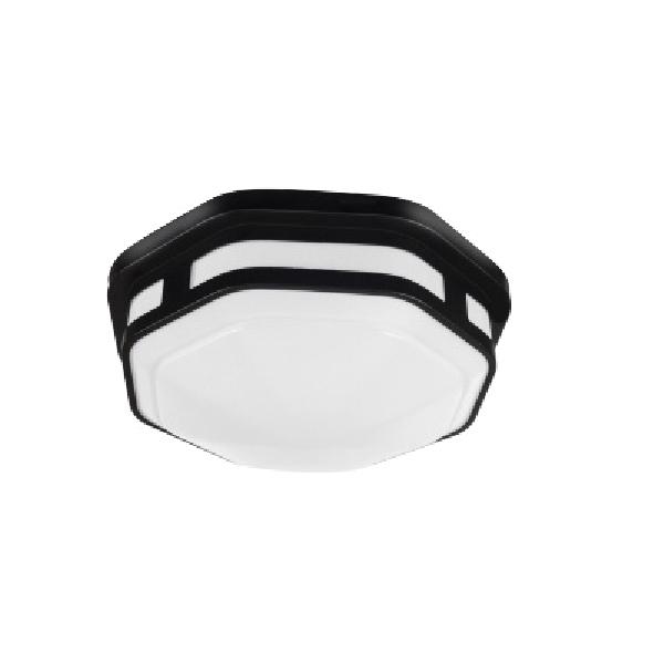 Picture of ETI COLOR PREFERENCE FME-10-802-MV-N-N-B Hexagon Lighting, 120 VAC, LED Lamp, 830 Lumens, Black Fixture
