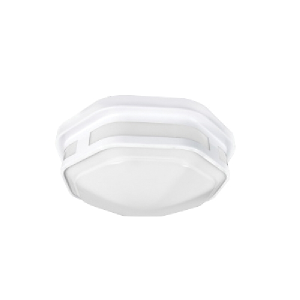 Picture of ETI COLOR PREFERENCE FME-10-802-MV-N-N-W Hexagon Lighting, 120 VAC, LED Lamp, 830 Lumens, White Fixture