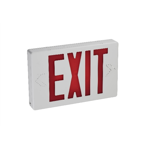 Picture of ETI 55301101 LED Exit Sign, 7.48 in OAW, 11.6 in OAH, 120/277 VAC, 2.2 W, Red/White