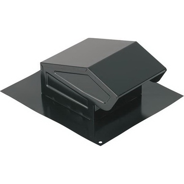 Picture of NuTone 636 Roof Cap, Steel, Black, Baked Enamel, For: 3 or 4 in Round Duct, 1, Pack
