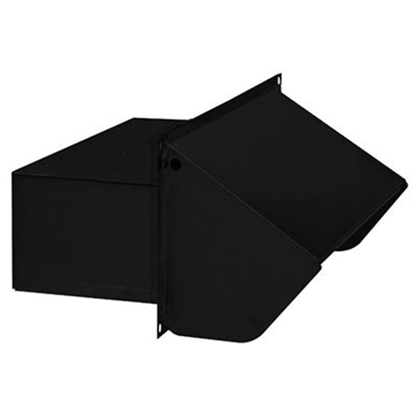 Picture of Broan 639 Wall Cap, Steel, Black, Epoxy, For: 3-1/4 x 10 in Duct Range Hoods and Bath Ventilation Fans, 1, Pack