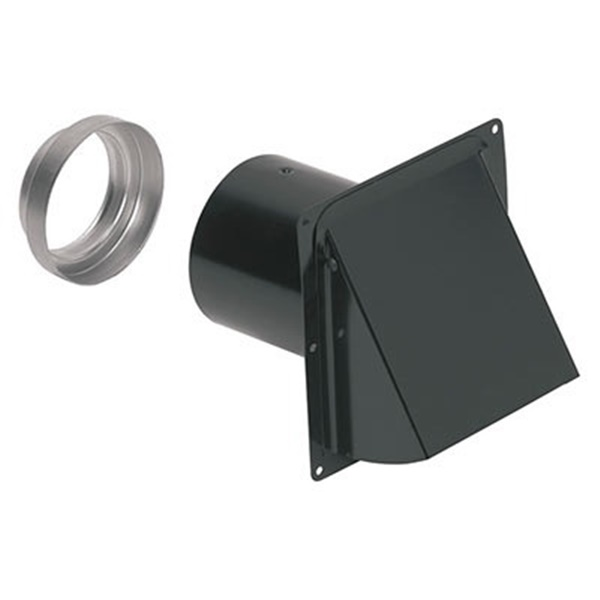 Picture of Broan 885BL Wall Cap, Steel, Black, Epoxy, For: 3 or 4 in Round Duct, 6, Pack