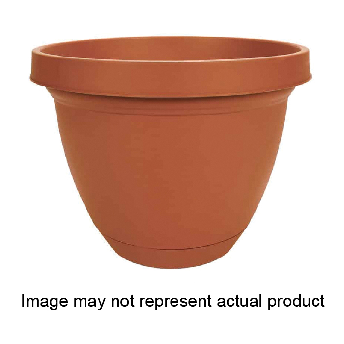 Picture of Akro-Mils IFA06000A34 Infinity Planter with Saucer, 6-1/2 in Dia, Round, Sandstone