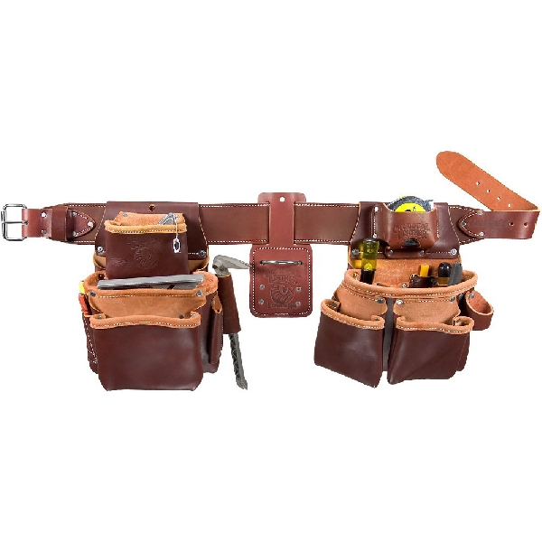 Picture of Occidental Leather 5080DB LG Tool Belt Set, 36 to 39 in Waist, 48 in L, Leather, Brown, 22 -Pocket