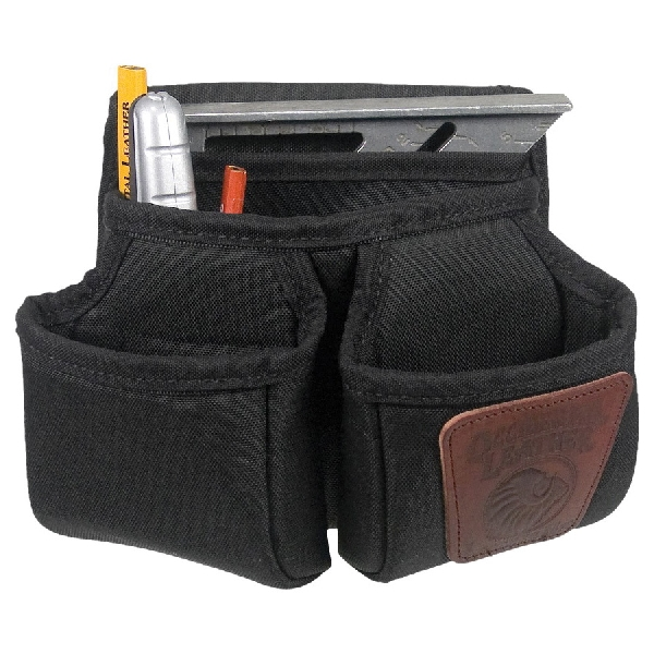 Picture of Occidental Leather 9504 Double Clip-On Pouch, 7 -Pocket, Leather/Nylon, 7-1/2 in W, 6 in D
