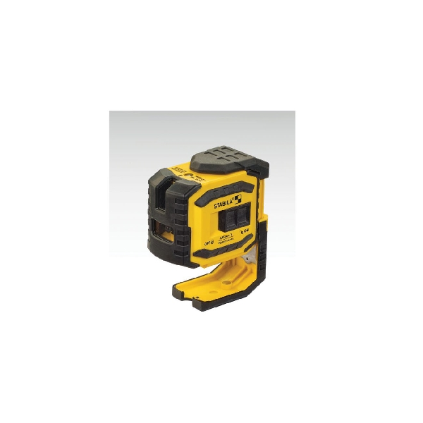 Picture of Stabila 03185 Laser Level Set, 90 ft, +/- 3/16 in at 50 ft Accuracy, 2 -Beam, 2 -Dot, Green Laser