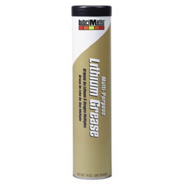 Picture of LubriMatic 11315 Lithium Grease, 14 oz Package, Cartridge, Slight Hydrocarbon, Black
