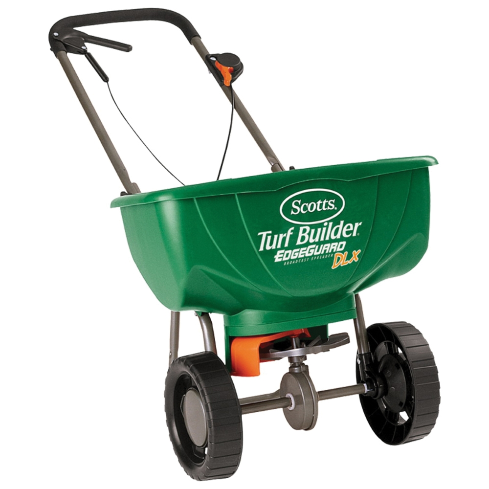 Picture of Scotts Turf Builder 76232 Broadcast Spreader, 10,000 sq-ft Coverage Area, High Traction Wheel