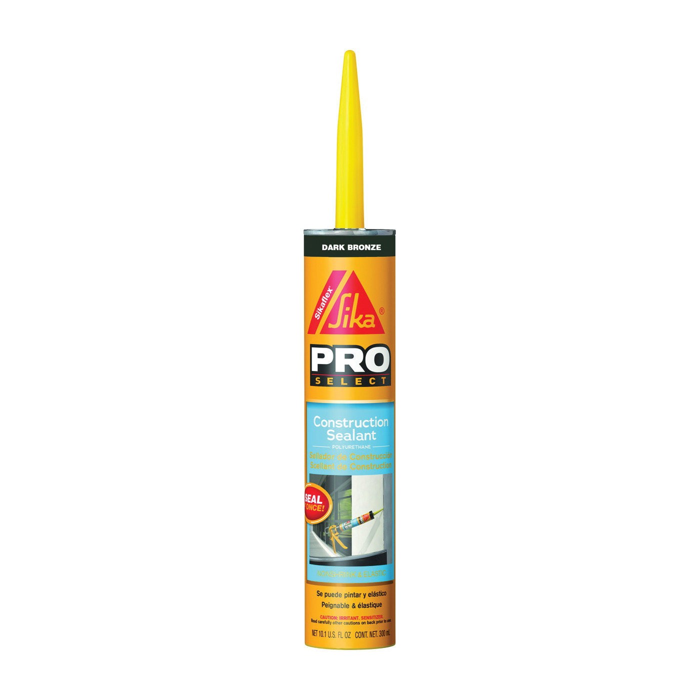 Picture of Sikaflex 515310 Construction Sealant, Dark Bronze, 7 Days Curing, 40 to 100 deg F, 10.1 oz Package, Cartridge