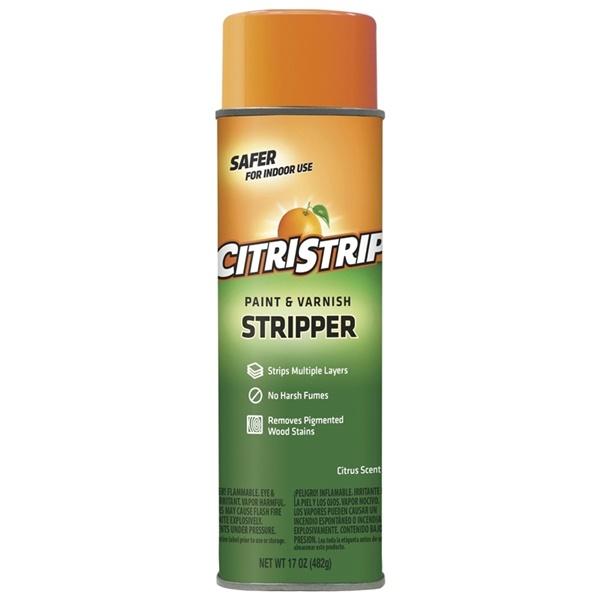 Picture of Citristrip ECSG807 Paint and Varnish Stripper, Gas, Orange, 17 oz, Aerosol Can