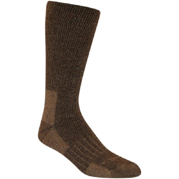 Picture of Carhartt A504-BRN-L Full-Cushioned Crew Socks, L, Acrylic/Polyester/Spandex/Wool, Brown