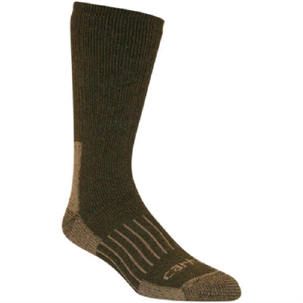 Picture of Carhartt A504-MSS-L Full-Cushioned Crew Socks, L, Acrylic/Polyester/Spandex/Wool, Moss