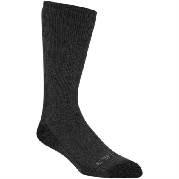 Picture of Carhartt A504-CHH-XL Full-Cushioned Crew Socks, XL, Acrylic/Polyester/Spandex/Wool, Charcoal