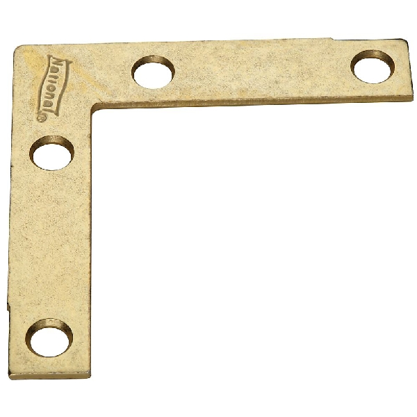 Picture of National Hardware N190-884 Corner Brace, 2-1/2 in L, 1/2 in W, Steel, Brass