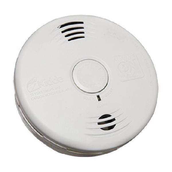 Picture of Kidde 21026065 Smoke Alarm with Sealed Lithium Battery, 10 ft, 85 dB, Alarm: Audio, White