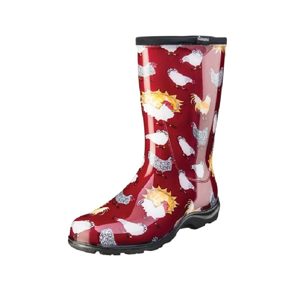 Picture of Sloggers 5016CBR-06 Rain and Garden Boots, 6 in, Chicken, Barn Red