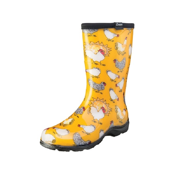 Picture of Sloggers 5016CDY-06 Rain and Garden Boots, 6 in, Chicken, Daffodil Yellow