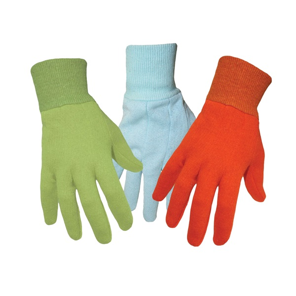 Picture of BOSS 418 Kid's Garden Gloves, One-Size, Knit Wrist Cuff, Jersey, Assorted