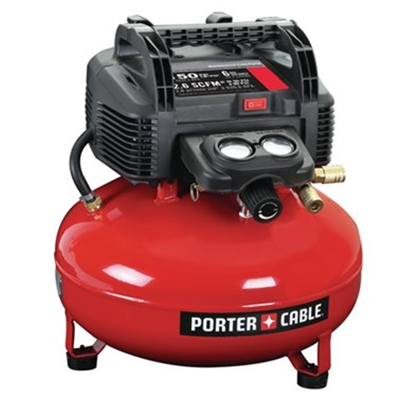 Picture of PORTER-CABLE C2002 Air Compressor, 6 gal Tank, 0.8 hp, 120 V, 120 to 150 psi Pressure, 1 -Stage