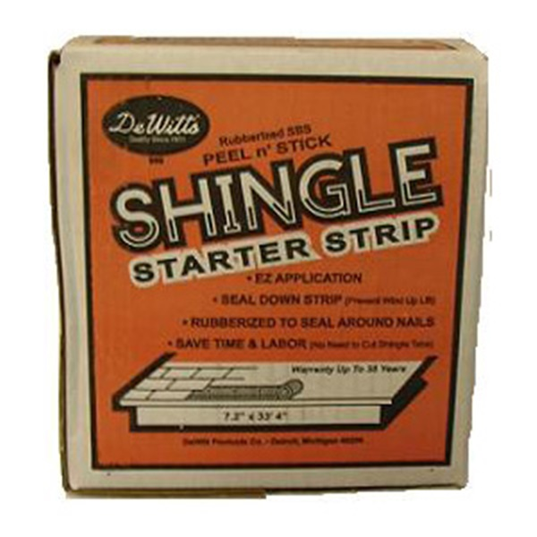 Picture of DeWitt 968 Shingle Starter and Rake Strip, Black, Solid