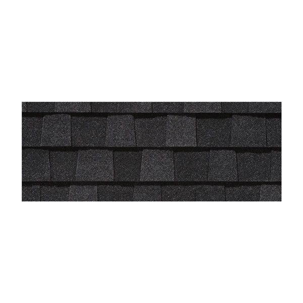 Picture of CertainTeed Landmark LMCB Roof Shingle, 38-3/4 in L, 13-1/4 in W, Fiberglass, Charcoal Black