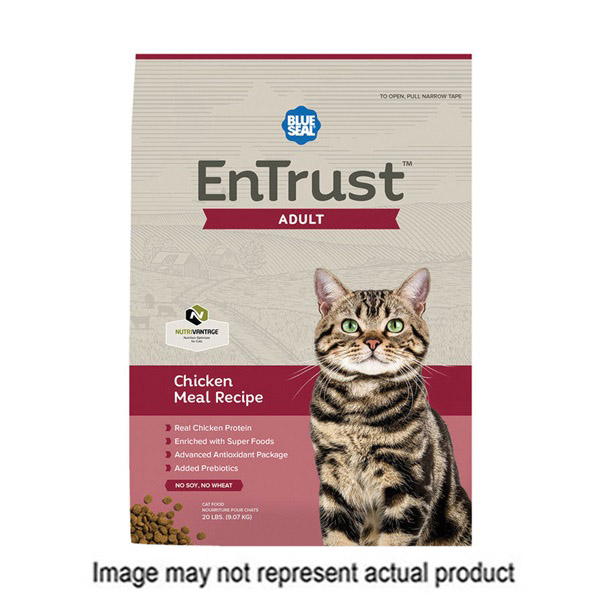 Picture of Blue Seal EnTrust 3952 Adult Cat Food, Dry, Chicken Meal Flavor, 6 lb Package, Bag