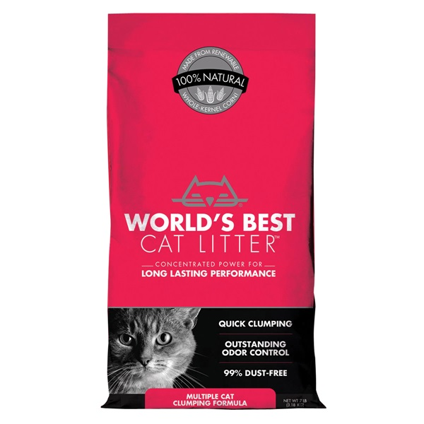 Picture of WORLD'S BEST CAT LITTER BSF8057 Cat Clumping, Tan, 28 lb Package, Bag