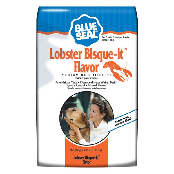 Picture of Blue Seal 1057 Dog Biscuit, Treat, Lobster Bisque-It Flavor, 4 lb Package, Bag