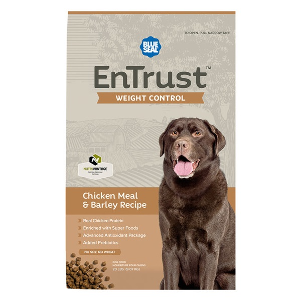 Picture of Blue Seal EnTrust 3979 Dog Food, Adult Breed, Dry, Barley, Chicken Meal Flavor, 6 lb Package, Bag