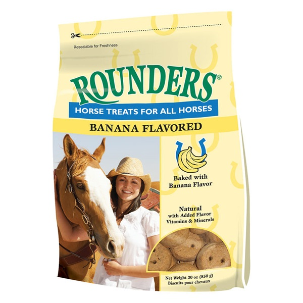 Picture of Blue Seal Rounders 1934 Horse Treat, Treat, Banana Flavor, 30 oz Package, Bag