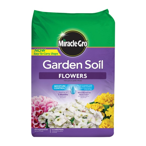Picture of Miracle-Gro 70359430 Flower Garden Soil, Solid, 1.5 cu-ft Package, Bag